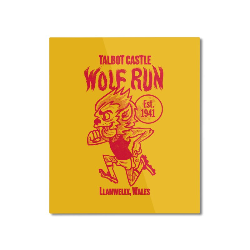 talbot castle wolf run Home Mounted Aluminum Print by Gimetzco's Damaged Goods
