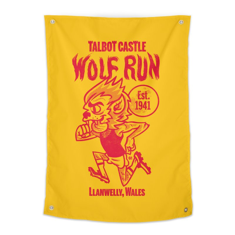 talbot castle wolf run Home Tapestry by Gimetzco's Damaged Goods