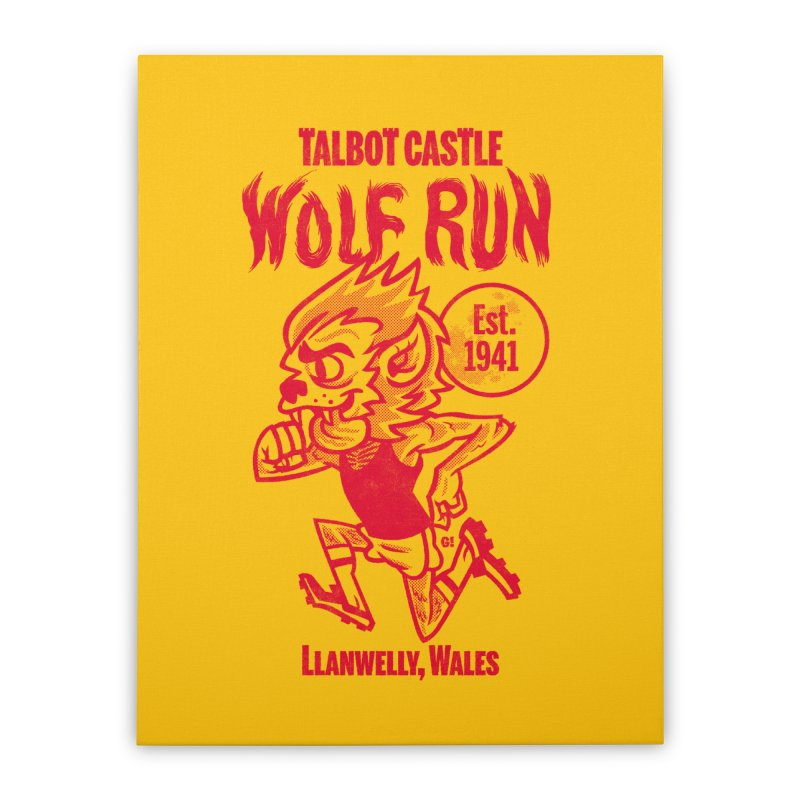 talbot castle wolf run Home Stretched Canvas by Gimetzco's Damaged Goods