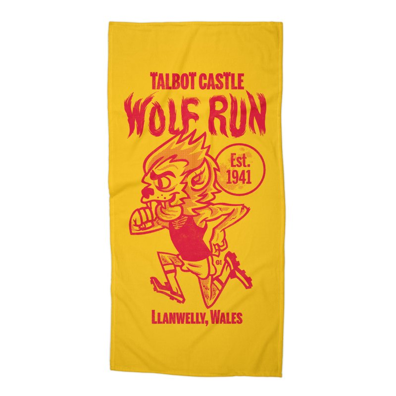 talbot castle wolf run Accessories Beach Towel by Gimetzco's Damaged Goods
