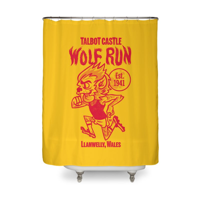 talbot castle wolf run Home Shower Curtain by Gimetzco's Damaged Goods