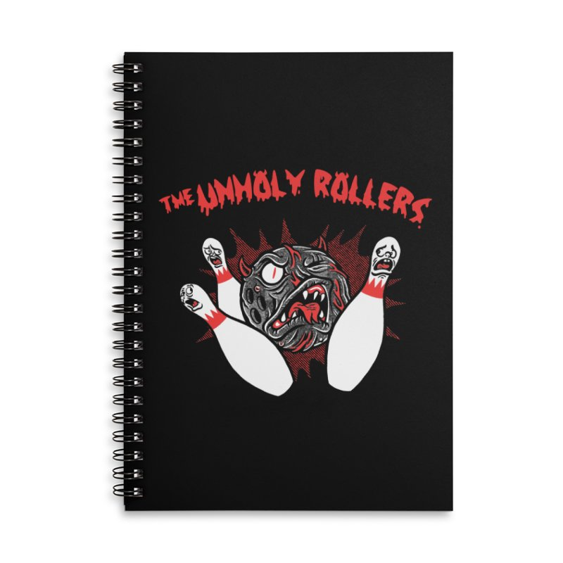 The Unholy Rollers Accessories Lined Spiral Notebook by Gimetzco's Damaged Goods