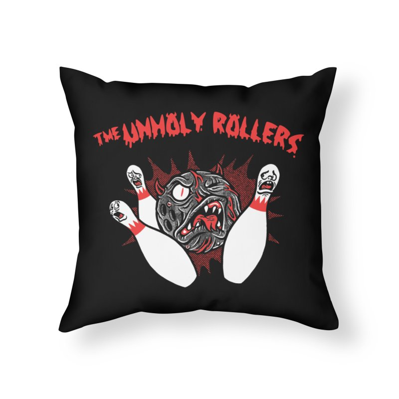 The Unholy Rollers Home Throw Pillow by Gimetzco's Damaged Goods