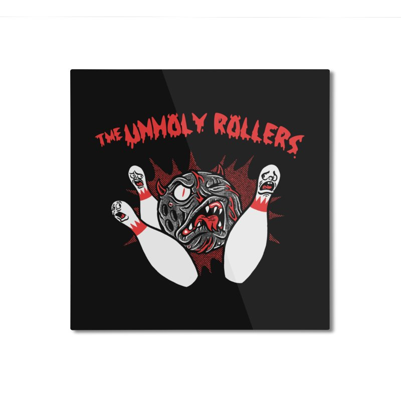 The Unholy Rollers Home Mounted Aluminum Print by Gimetzco's Damaged Goods
