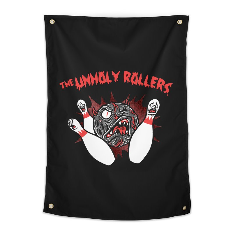 The Unholy Rollers Home Tapestry by Gimetzco's Damaged Goods