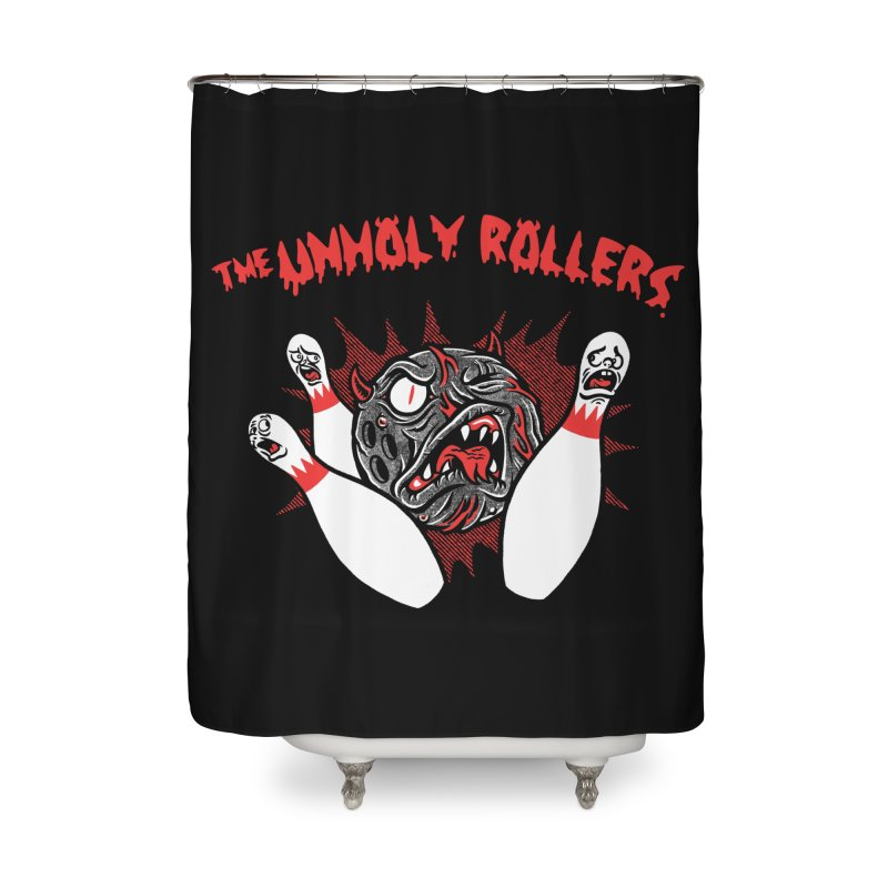 The Unholy Rollers Home Shower Curtain by Gimetzco's Damaged Goods