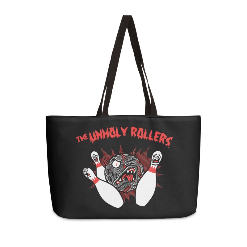 The Unholy Rollers Accessories Weekender Bag Bag by Gimetzco's Damaged Goods