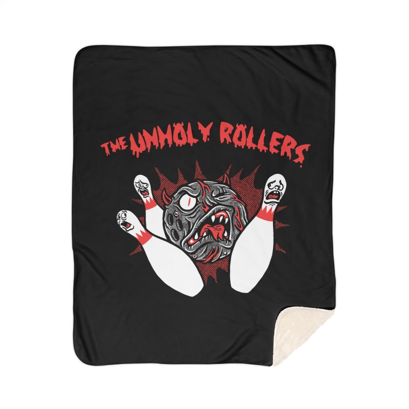The Unholy Rollers Home Sherpa Blanket Blanket by Gimetzco's Damaged Goods