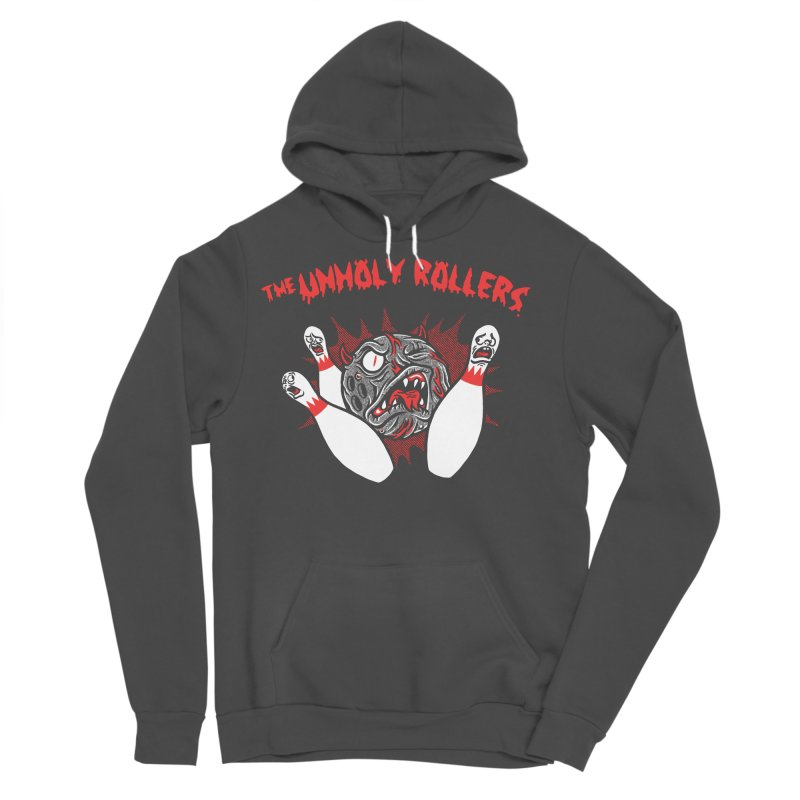 The Unholy Rollers Men's Sponge Fleece Pullover Hoody by Gimetzco's Damaged Goods