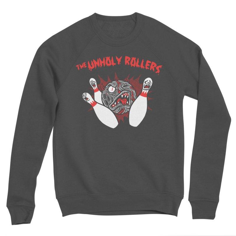 The Unholy Rollers Men's Sponge Fleece Sweatshirt by Gimetzco's Damaged Goods