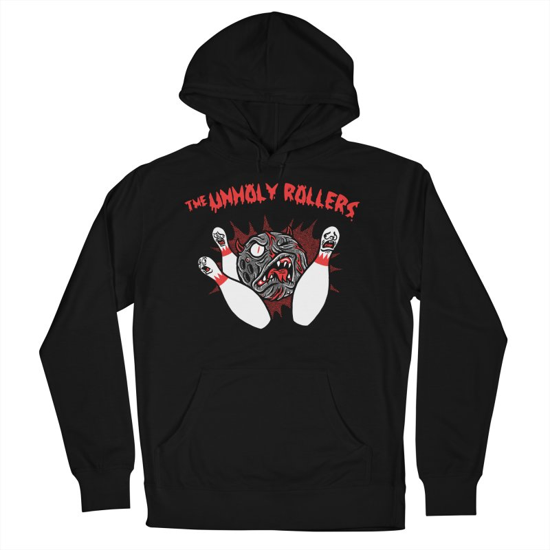 The Unholy Rollers Men's French Terry Pullover Hoody by Gimetzco's Damaged Goods