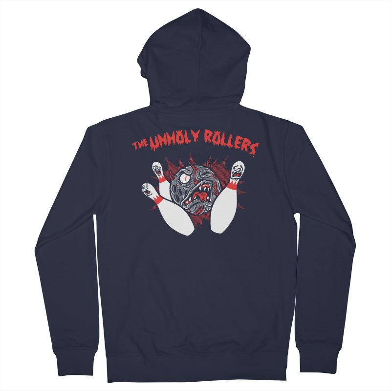 The Unholy Rollers Men's French Terry Zip-Up Hoody by Gimetzco's Damaged Goods