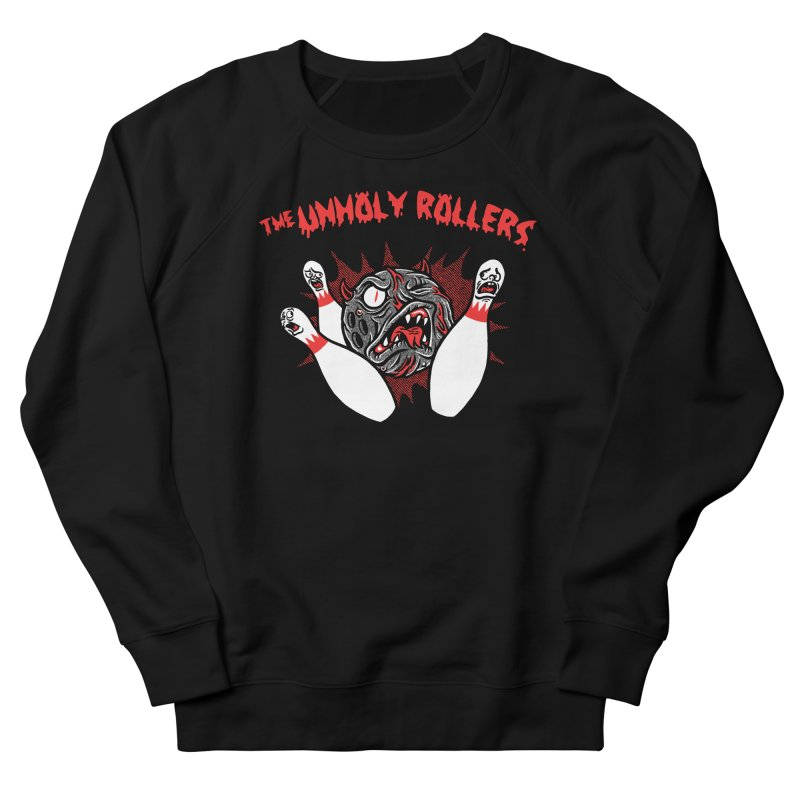 The Unholy Rollers Men's French Terry Sweatshirt by Gimetzco's Damaged Goods