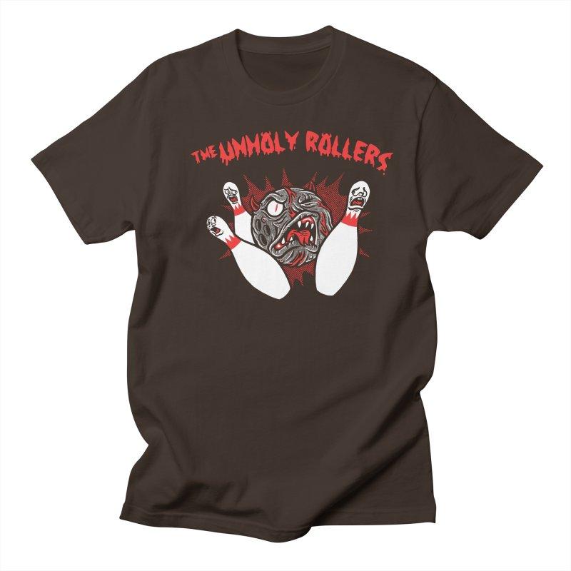 The Unholy Rollers Men's Regular T-Shirt by Gimetzco's Damaged Goods