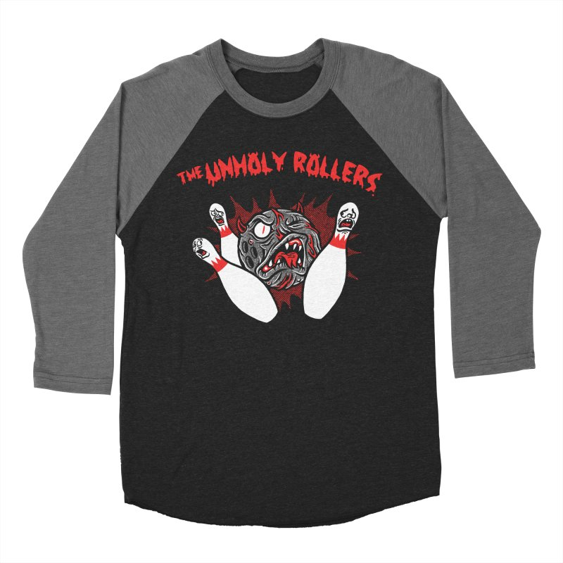 The Unholy Rollers Men's Baseball Triblend Longsleeve T-Shirt by Gimetzco's Damaged Goods