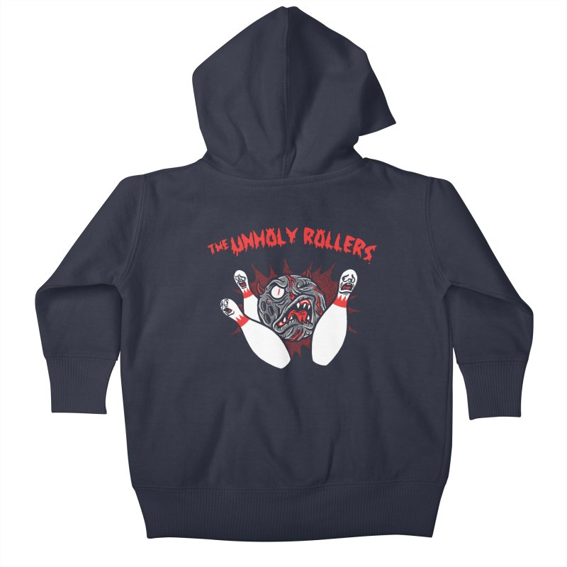 The Unholy Rollers Kids Baby Zip-Up Hoody by Gimetzco's Damaged Goods