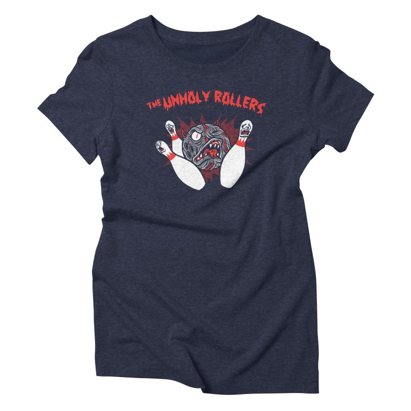 The Unholy Rollers Women's Triblend T-Shirt by Gimetzco's Damaged Goods