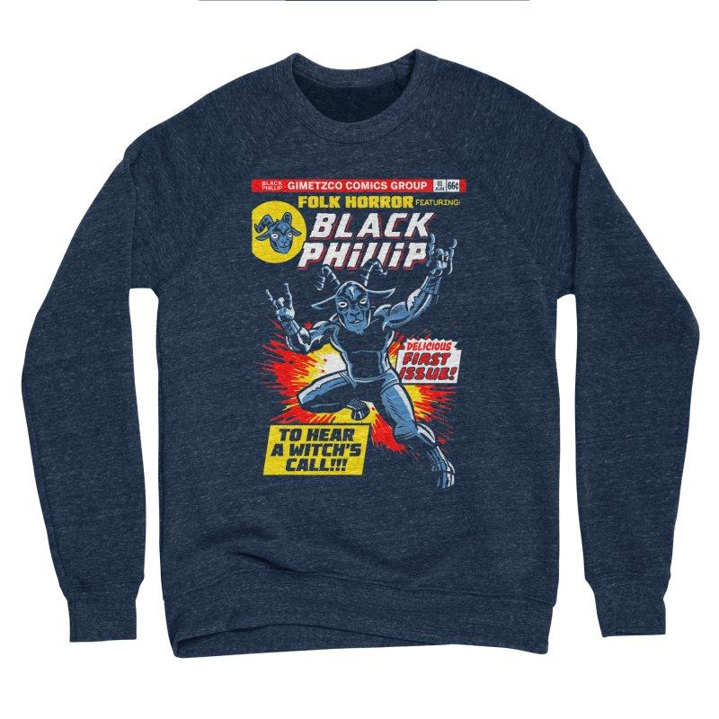 Folk horror featuring: Black Phillip Women's Sponge Fleece Sweatshirt by Gimetzco's Damaged Goods