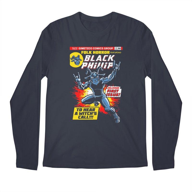Folk horror featuring: Black Phillip Men's Regular Longsleeve T-Shirt by Gimetzco's Damaged Goods