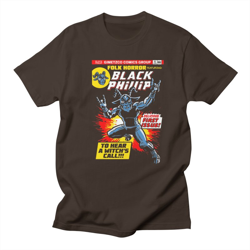 Folk horror featuring: Black Phillip Men's Regular T-Shirt by Gimetzco's Damaged Goods
