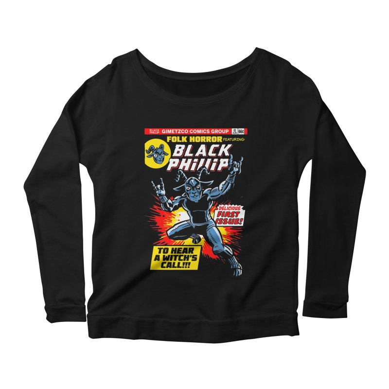 Folk horror featuring: Black Phillip Women's Scoop Neck Longsleeve T-Shirt by Gimetzco's Damaged Goods