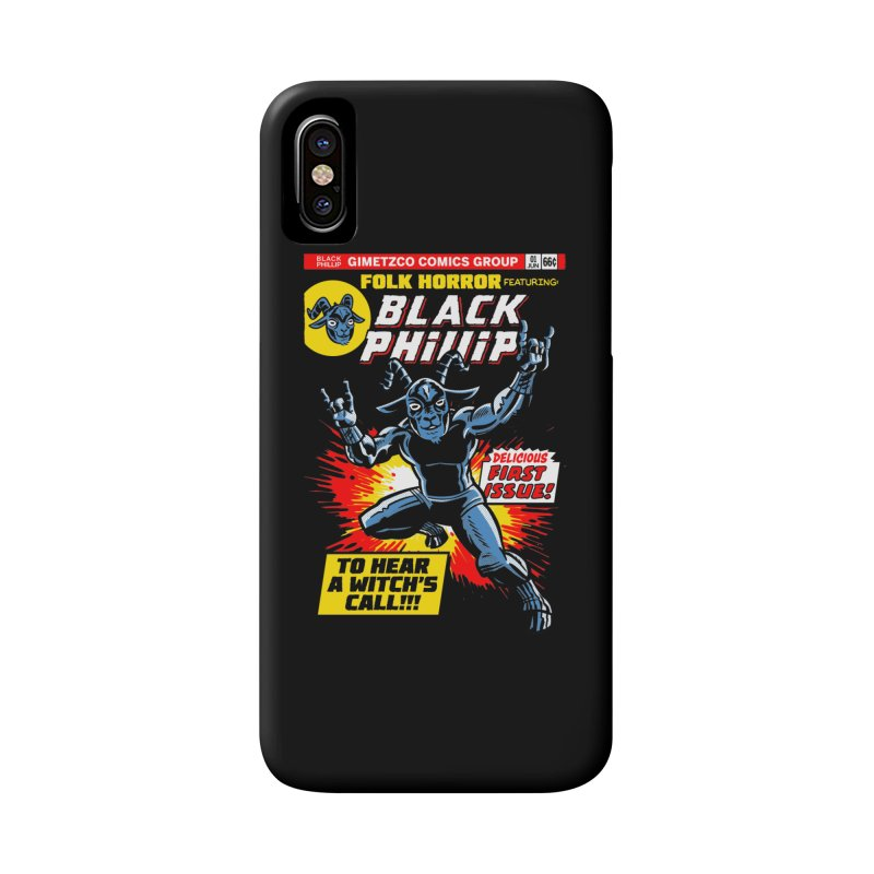 Folk horror featuring: Black Phillip Accessories Phone Case by Gimetzco's Damaged Goods