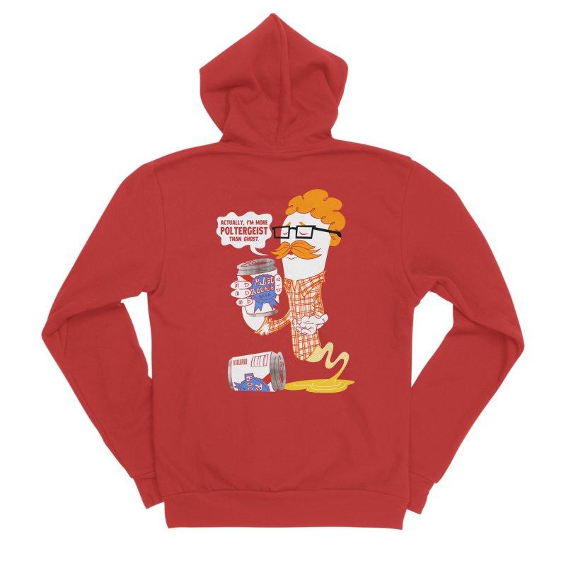 Pabzt Boo Ribbon Men's Sponge Fleece Zip-Up Hoody by Gimetzco's Damaged Goods