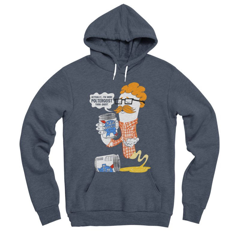 Pabzt Boo Ribbon Men's Sponge Fleece Pullover Hoody by Gimetzco's Damaged Goods