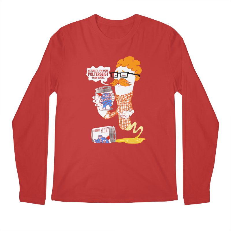 Pabzt Boo Ribbon Men's Regular Longsleeve T-Shirt by Gimetzco's Damaged Goods