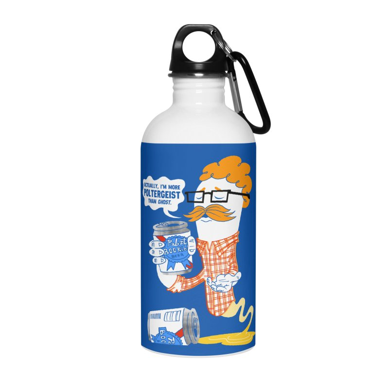 Pabzt Boo Ribbon Accessories Water Bottle by Gimetzco's Damaged Goods