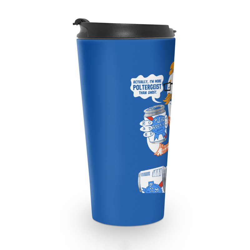 Pabzt Boo Ribbon Accessories Travel Mug by Gimetzco's Damaged Goods