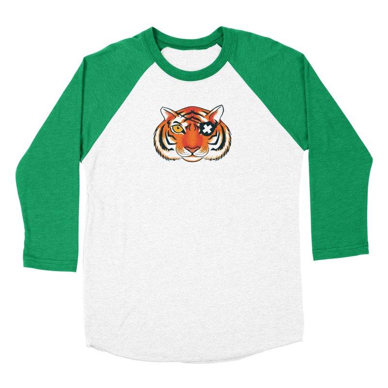 One Eye Women's Baseball Triblend Longsleeve T-Shirt by Gimetzco's Damaged Goods