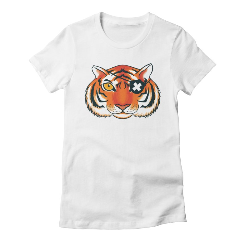 One Eye Women's Fitted T-Shirt by Gimetzco's Damaged Goods