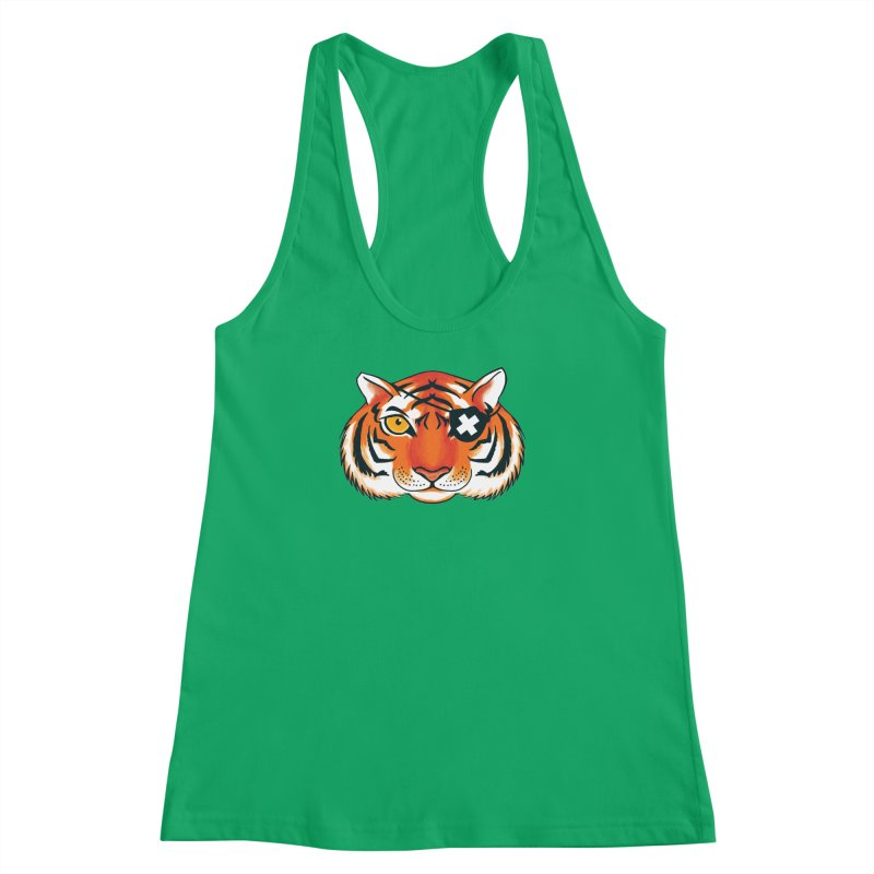 One Eye Women's Racerback Tank by Gimetzco's Damaged Goods