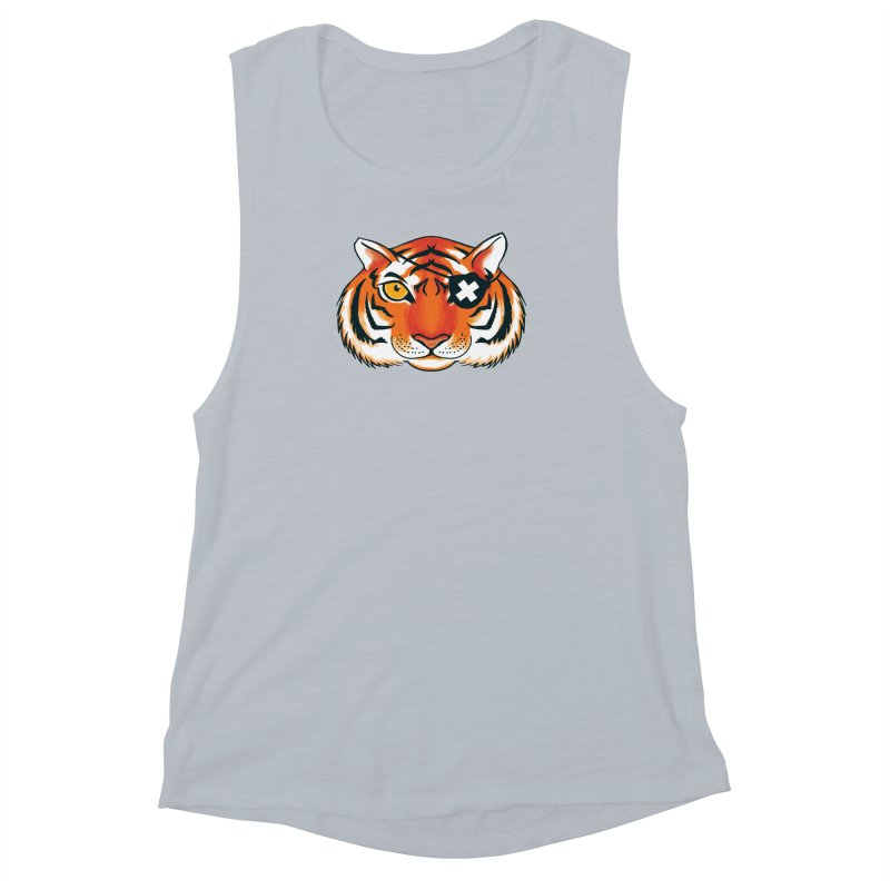 One Eye Women's Muscle Tank by Gimetzco's Damaged Goods