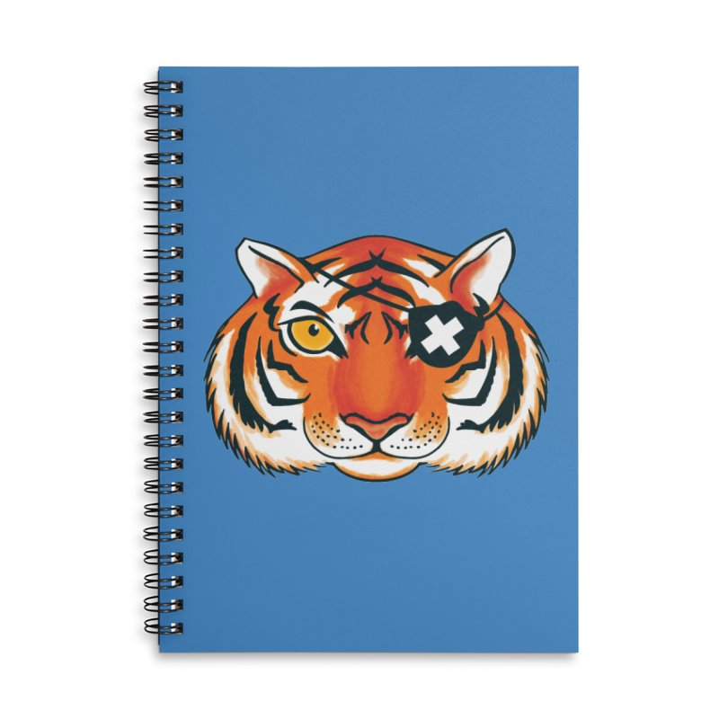 One Eye Accessories Lined Spiral Notebook by Gimetzco's Damaged Goods