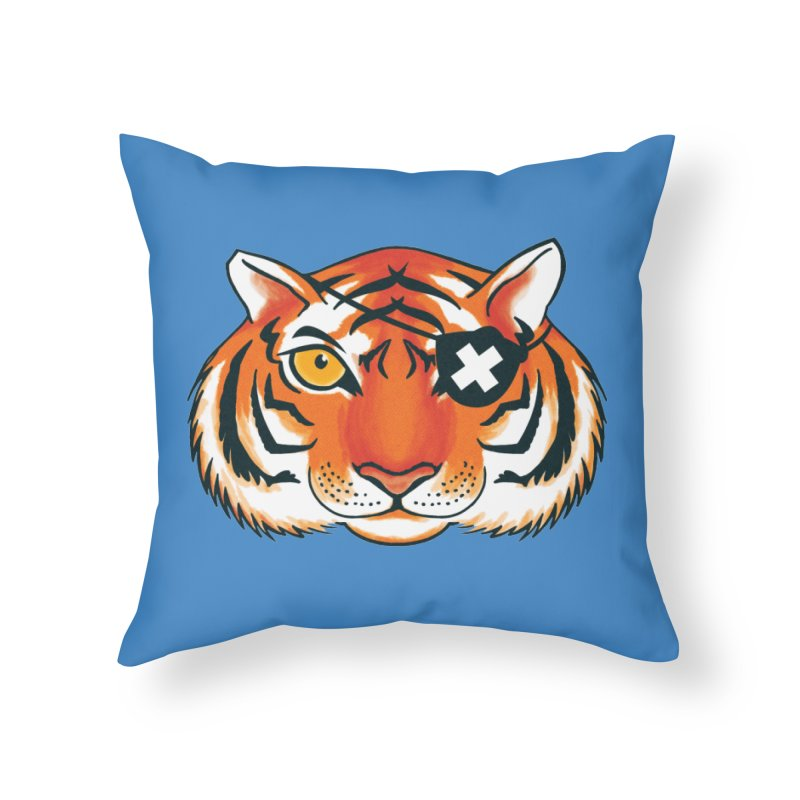 One Eye Home Throw Pillow by Gimetzco's Damaged Goods