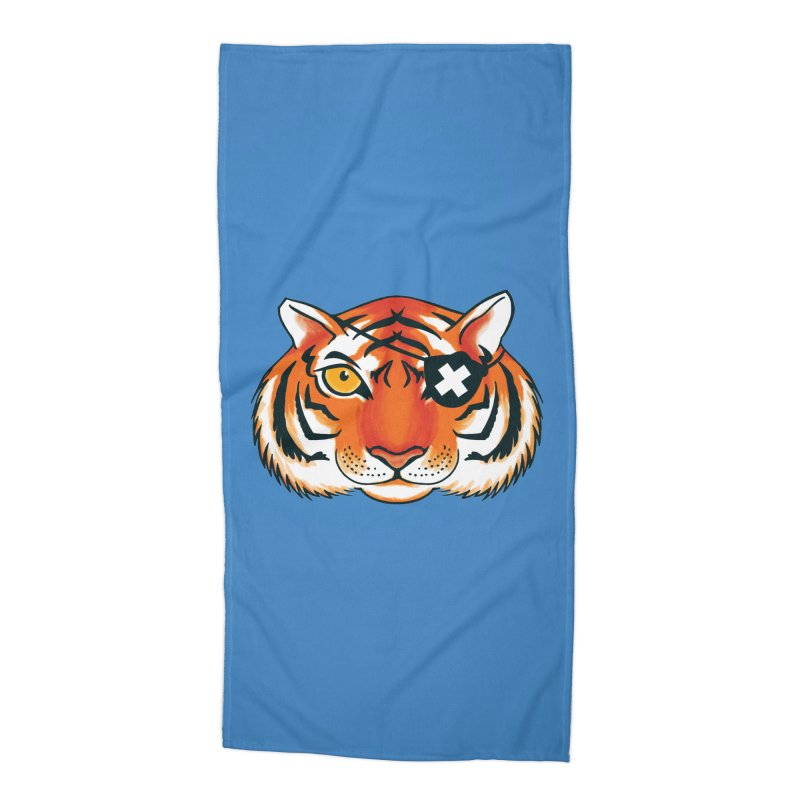 One Eye Accessories Beach Towel by Gimetzco's Damaged Goods