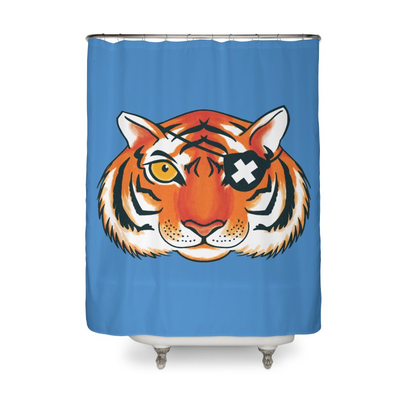 One Eye Home Shower Curtain by Gimetzco's Damaged Goods