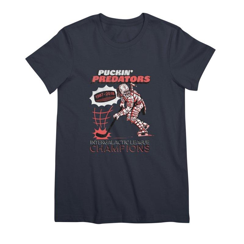 Puckin' Predators Women's Premium T-Shirt by Gimetzco's Damaged Goods