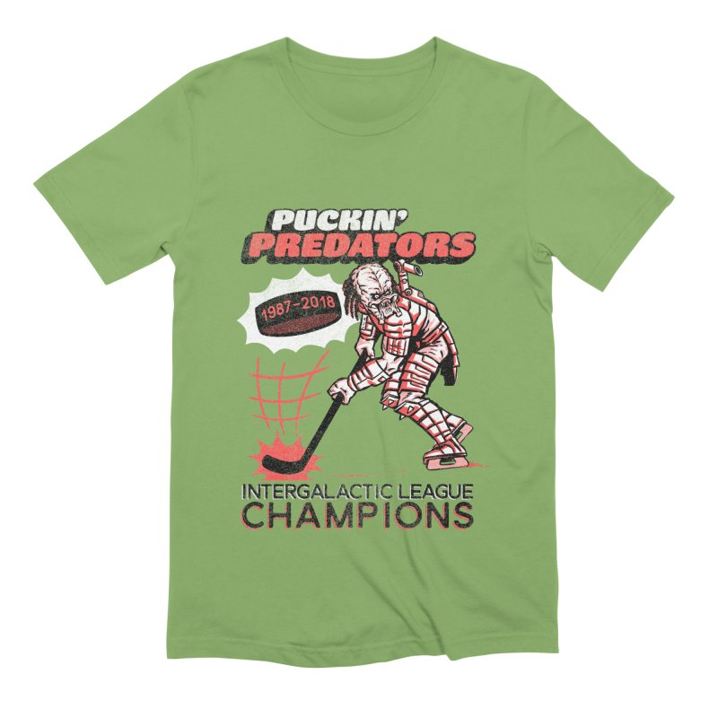 Puckin' Predators Men's Extra Soft T-Shirt by Gimetzco's Damaged Goods