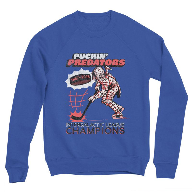 Puckin' Predators Men's Sponge Fleece Sweatshirt by Gimetzco's Damaged Goods