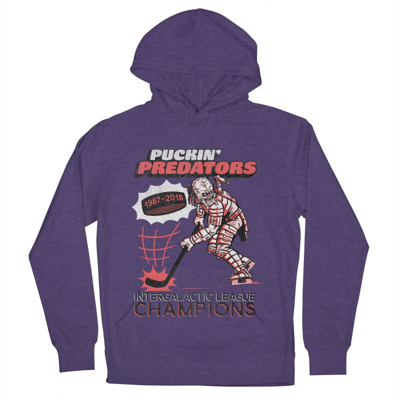 Puckin' Predators Men's French Terry Pullover Hoody by Gimetzco's Damaged Goods