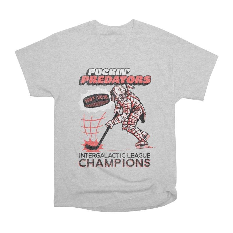 Puckin' Predators Women's Heavyweight Unisex T-Shirt by Gimetzco's Damaged Goods