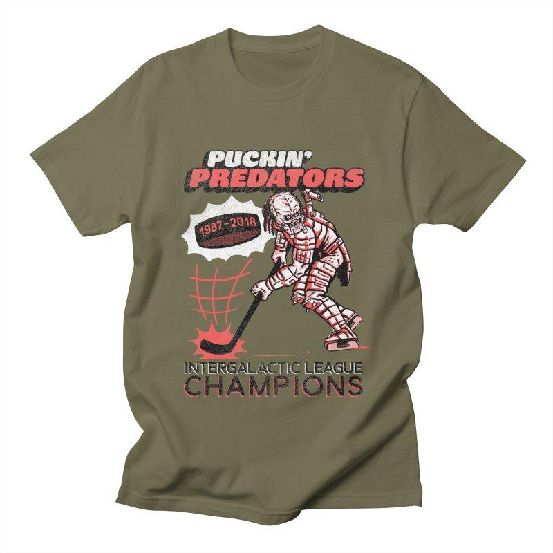 Puckin' Predators Men's Regular T-Shirt by Gimetzco's Damaged Goods