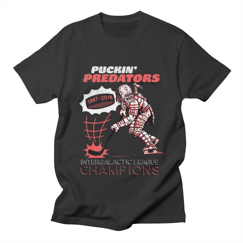 Puckin' Predators Women's Regular Unisex T-Shirt by Gimetzco's Damaged Goods