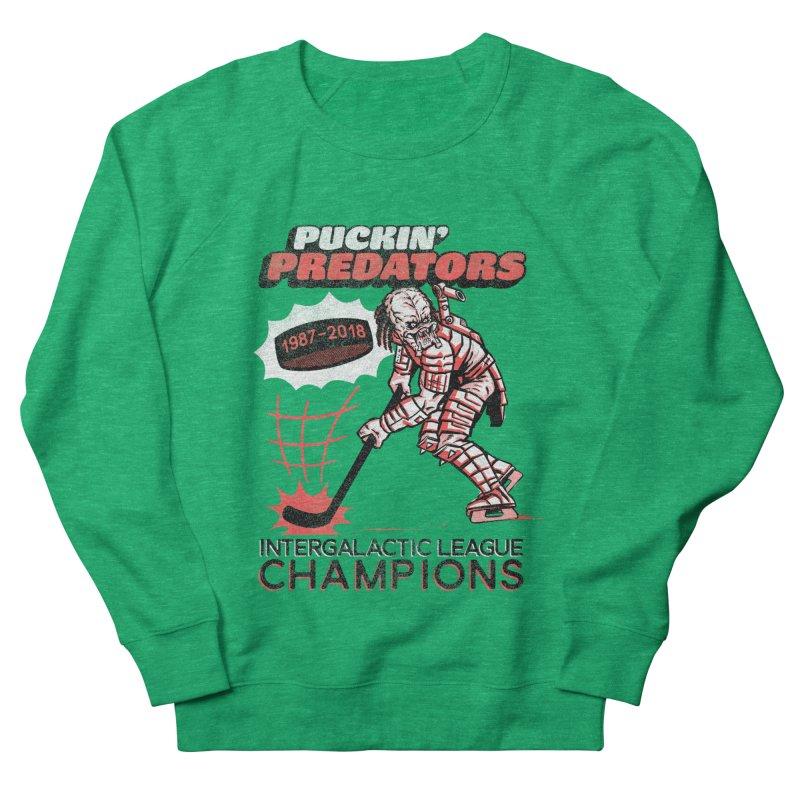 Puckin' Predators Women's French Terry Sweatshirt by Gimetzco's Damaged Goods