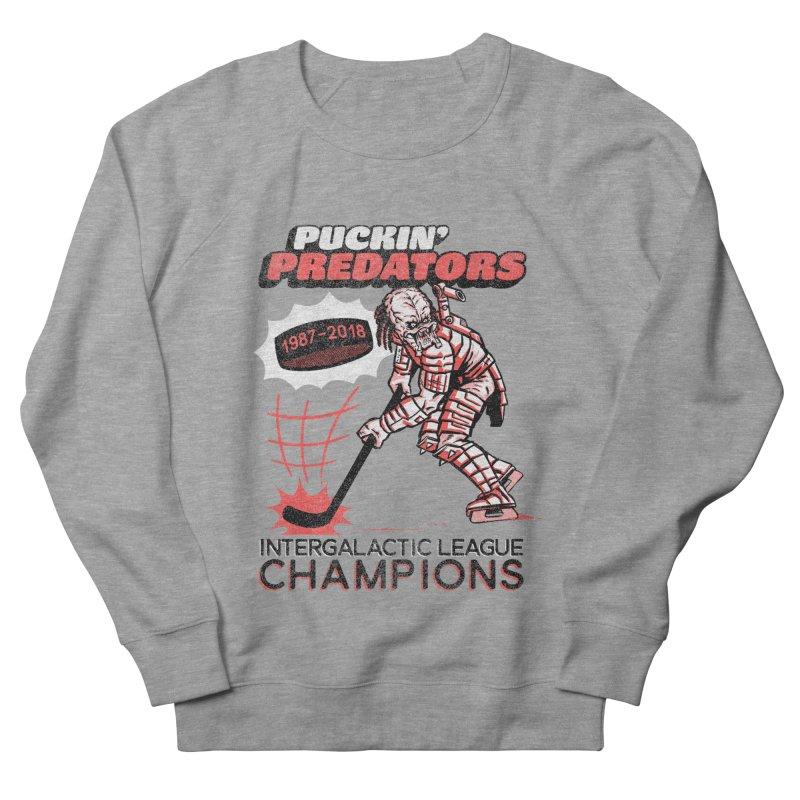 Puckin' Predators Men's French Terry Sweatshirt by Gimetzco's Damaged Goods