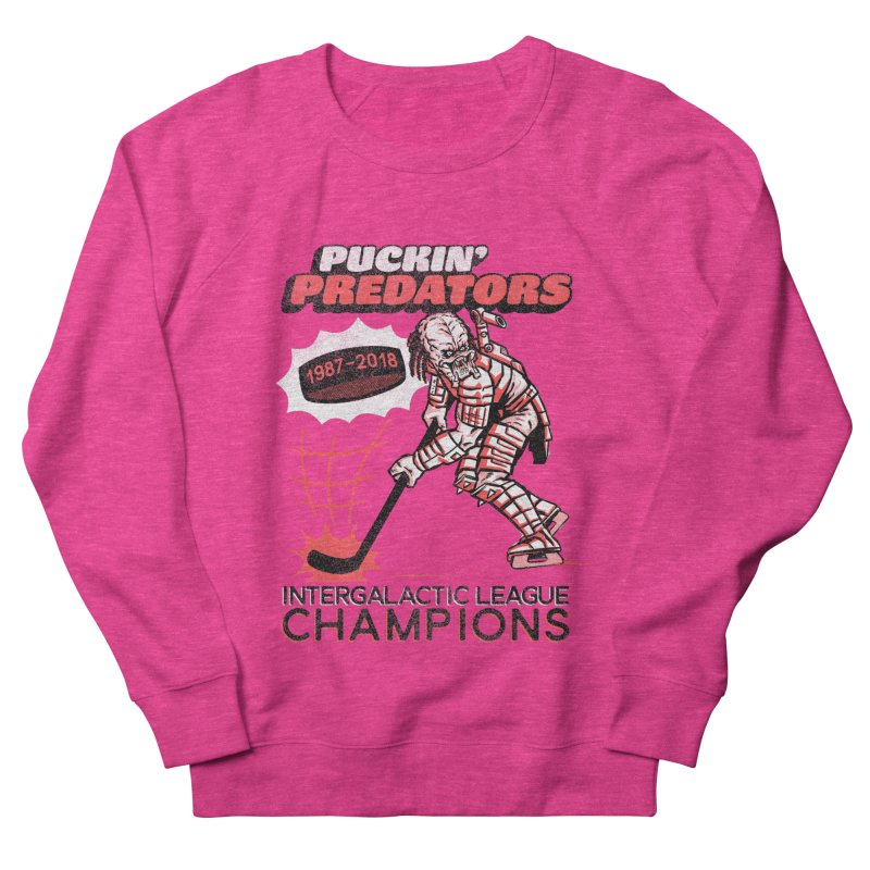 Puckin' Predators Men's French Terry Sweatshirt by Gimetzco's Damaged Goods