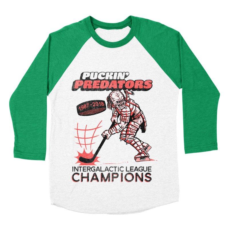 Puckin' Predators Women's Baseball Triblend Longsleeve T-Shirt by Gimetzco's Damaged Goods
